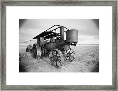 Iron Wheels And Steam Framed Print by HW Kateley