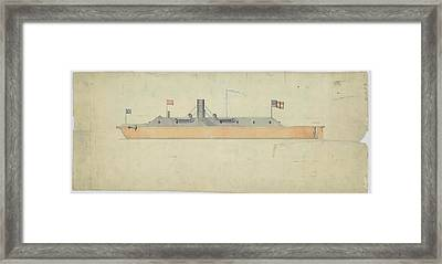 Ironclad Warship Css Virginia Framed Print by Us National Archives