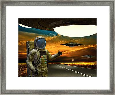Ironic Number Four - Hitchhiker Framed Print by Bob Orsillo