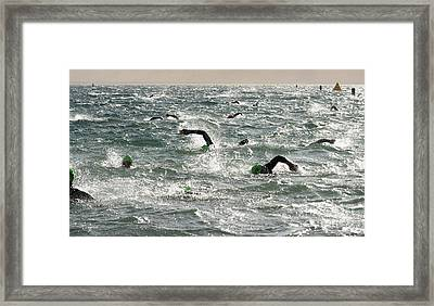 Ironman 2012 Sheer Determination Framed Print by Bob Christopher