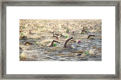 Ironman Competitor 109 Framed Print