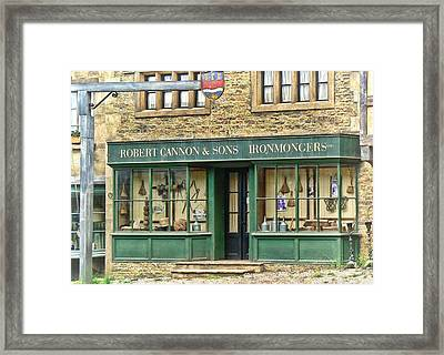 Ironmongers In Candleford Framed Print