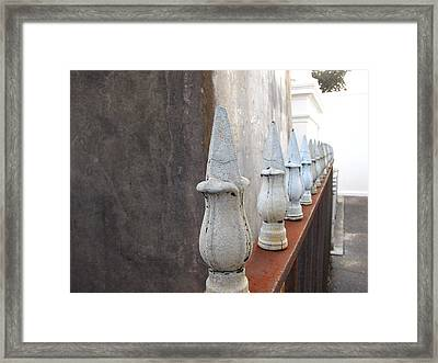 Framed Print featuring the photograph Ironwork by Beth Vincent