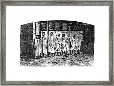 Ironworkers Framed Print by Science Photo Library