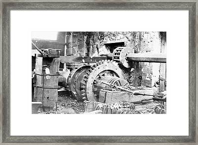 Ironworking Forge Machinery Framed Print by Hagley Museum And Archive