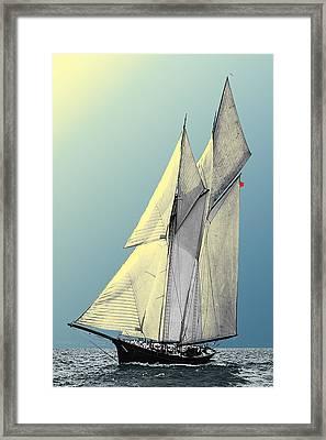 Iroquois - Schooner Yacht Framed Print