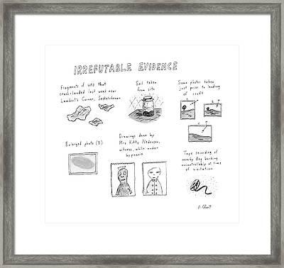 Irrefutable Evidence Framed Print