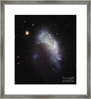 Irregular Galaxy Ngc 1427 Framed Print by Science Source