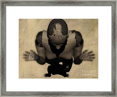 Irresolutely Framed Print by Sina Souza