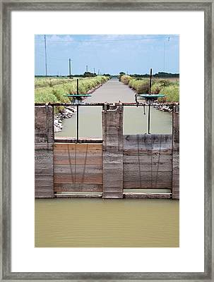 Irrigation Canal Framed Print