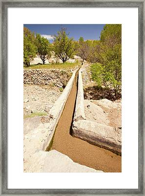 Irrigation Channel Framed Print by Ashley Cooper