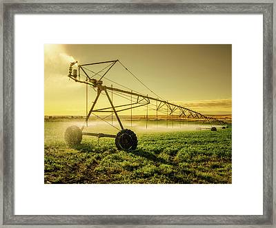 Irrigator Machine At Palouse Framed Print by Chinaface