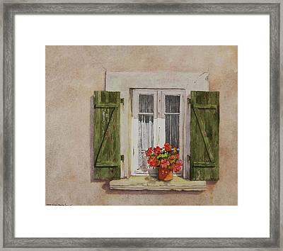 Irvillac Window Framed Print