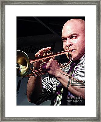 Irvin Mayfield In New Orleans Louisiana Framed Print by Michael Hoard