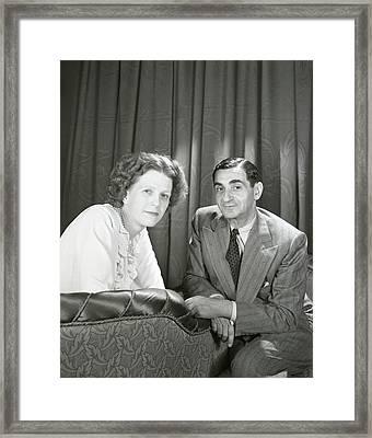Irving Berlin And Ellin Mackay Berlin Framed Print