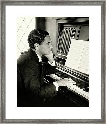 Irving Berlin At A Piano Framed Print