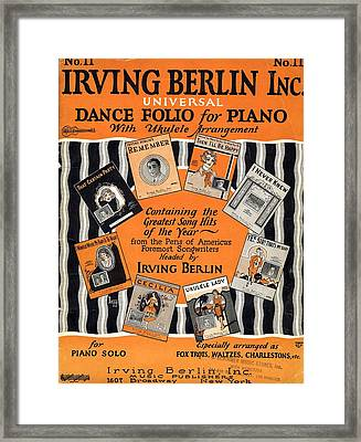 Irving Berlin Dance Folio For Piano Framed Print by Mel Thompson