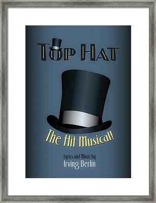 Irving Berlin Top Hat Musical Poster Framed Print
