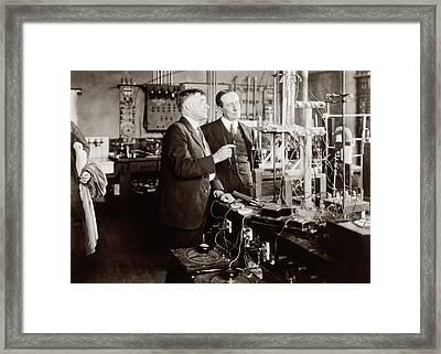 Irving Langmuir And Guglielmo Marconi Framed Print