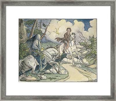 Irving: Sleepy Hollow, 1849 Framed Print