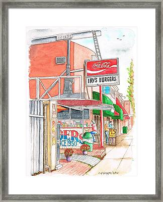Irv's Burgers In West Hollywood, California Framed Print
