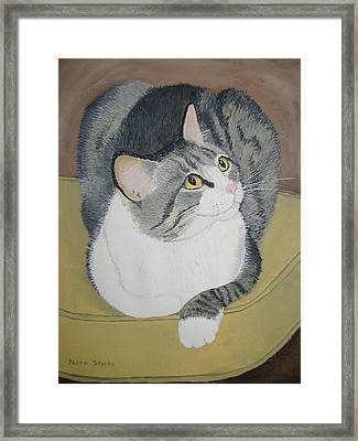 Framed Print featuring the painting Is Dinner Ready by Norm Starks