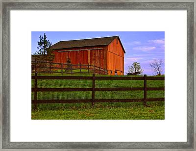 Is Every Barn Red Framed Print by Frozen in Time Fine Art Photography
