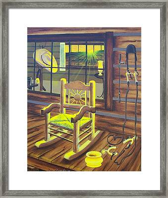 Is Grandpaw Home? Framed Print