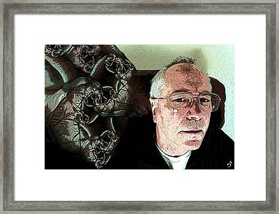 Is It Right Behind Me Framed Print by Ron Bissett