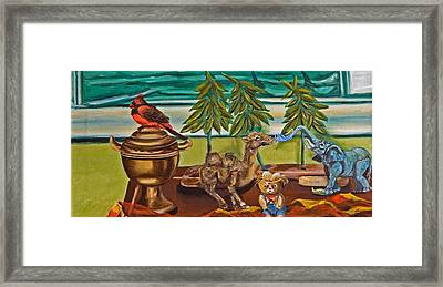 Framed Print featuring the painting Is It Time For A Shower by Susan Culver
