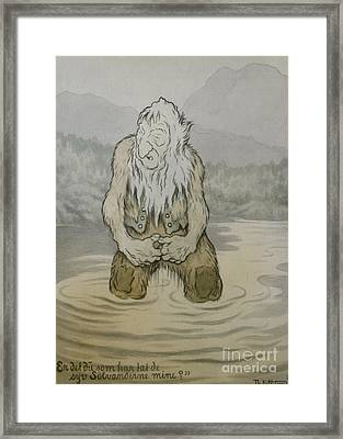 Is It You Who Have Taken My Seven Silver Ducks Framed Print