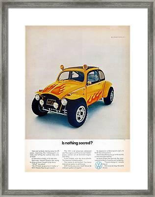Is Nothing Sacred - Volkswagen Advert Framed Print