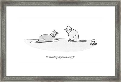 Is Oversleeping A Real Thing? Framed Print