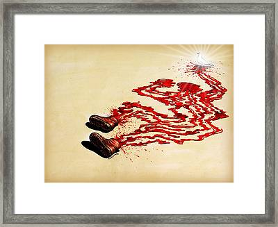 Is Revolt The Legitimate Means To Implant Justice And Peace For A People That Reject The Power Framed Print by Paulo Zerbato