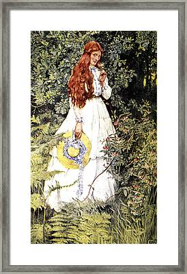Is She Not Pure Gold My Mistress Framed Print by Eleanor Fortescue Brickdale