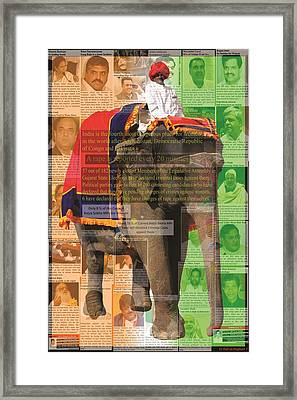 Is That An Elephant In The Room Framed Print