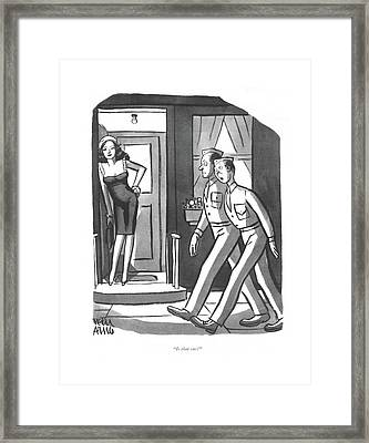 Is That One? Framed Print by Peter Arno