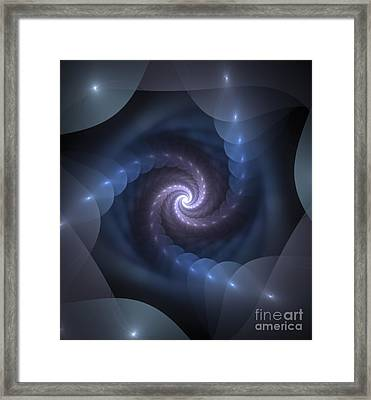 Framed Print featuring the digital art Is There A Light At The End Of The Tunnel? by Svetlana Nikolova