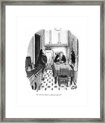 Is This By Chance A Private Party? Framed Print by Sydney Hoff
