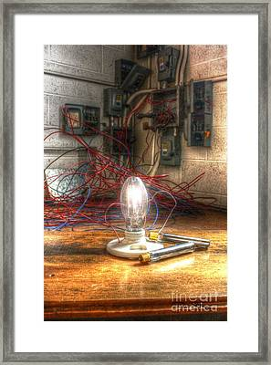 Is This Right Mr. Edison? Framed Print