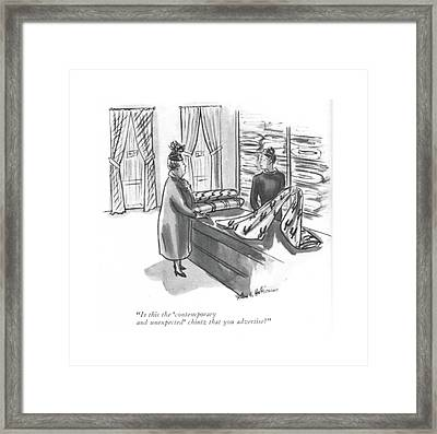 Is This The 'contemporary And Unexpected' Chintz Framed Print