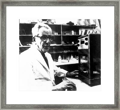 Isaac Berenblum Framed Print by National Cancer Institute