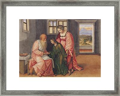 Isaac Blessing Jacob Framed Print