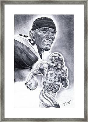 Isaac Bruce Framed Print by Jonathan Tooley