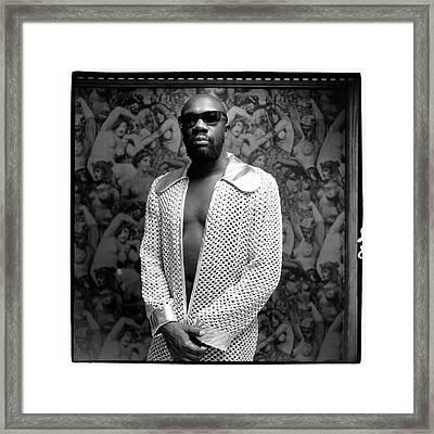 Isaac Hayes Wearing A Jacket Framed Print
