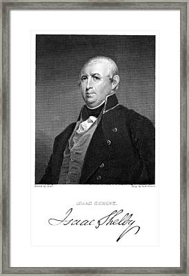 Isaac Shelby (1750-1826) Framed Print by Granger