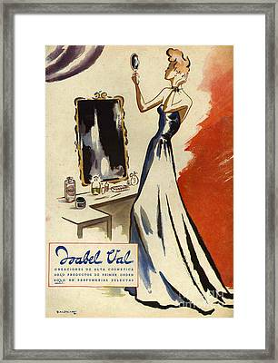 Isabel Val 1942 1940s Spain Cc Mirrors Framed Print by The Advertising Archives