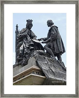 Isabella And Columbus Framed Print by Phil Banks