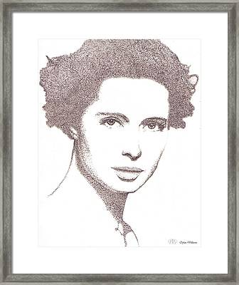 Isabella Rossellini Drawing Framed Print