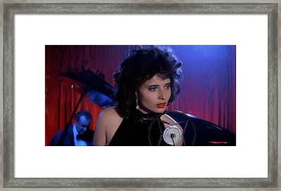 Isabella Rossellini In The Film Blue Velvet Framed Print